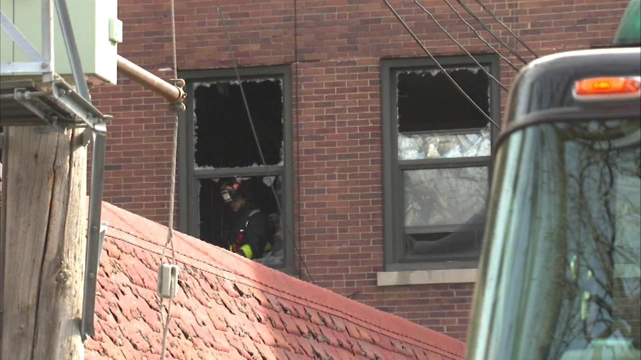 Fire damaged a church building on Chicagos Near West Side Sunday morning.