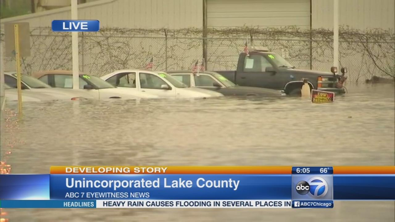 High water floods roads in north suburbs
