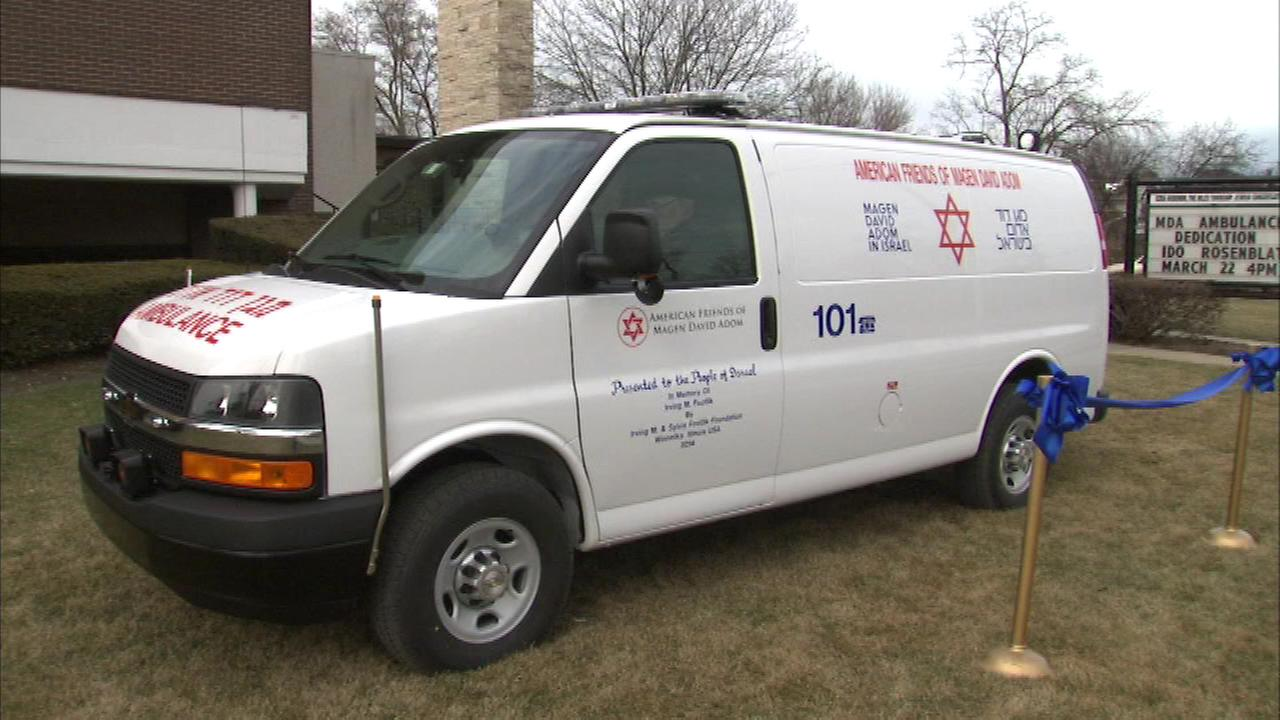 A north suburban Jewish community worked together to donate an ambulance to help those in Israel.