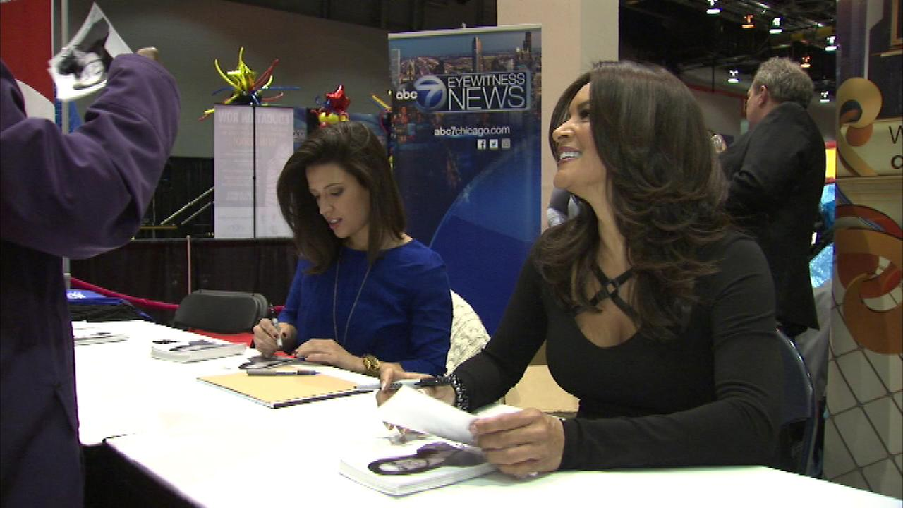 ABC7s Cheryl Burton and Tanja Babich were at the Black Womens Expo on Friday to greet participants and sign autographs.