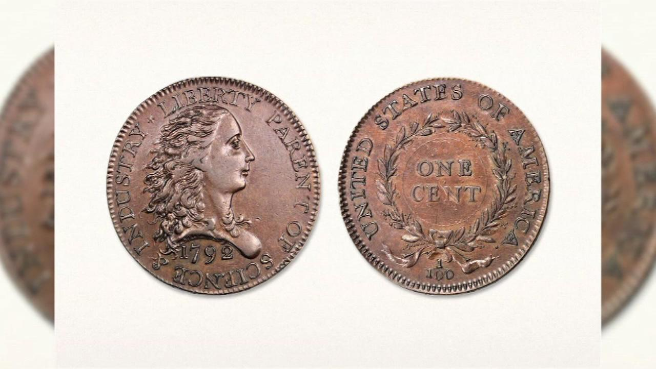 Stacks Bowers Galleries says one of the first 1-cent pieces made in the country went to a rare-coin dealer Thursday night for $1.175 million in Baltimore.