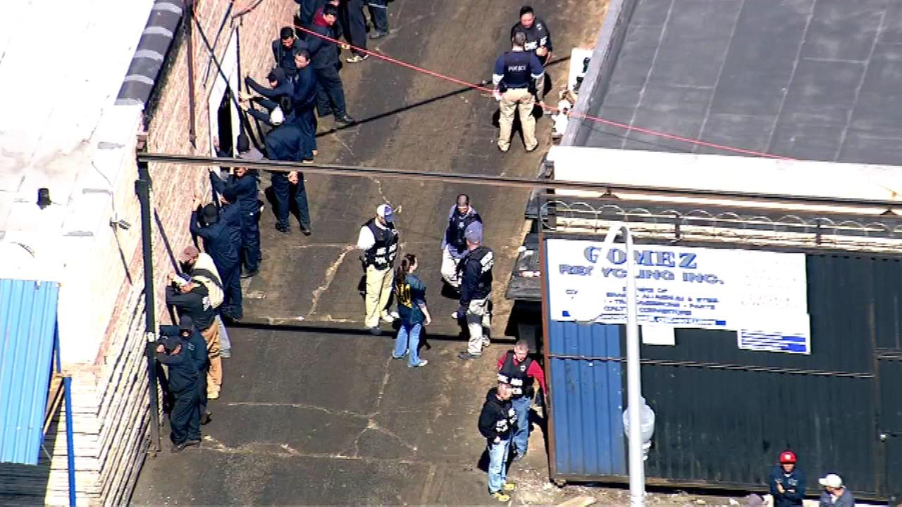 Police executed a search warrant at a business on the citys West Side Wednesday.