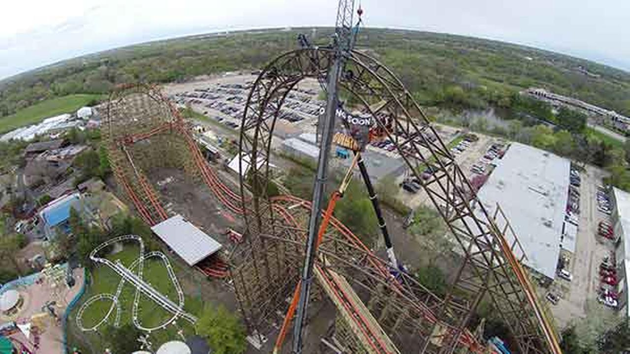 Goliath is the first wooden roller coaster in the world to propel riders upside-down through two separate maneuvers, Six Flags said in a release.