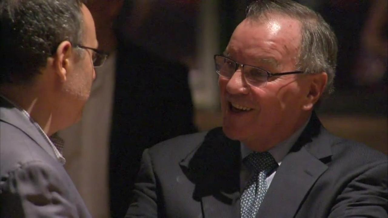 Former Mayor Richard Daley made a rare public appearance when he was honored by the Chicago Architecture Foundation at its 40th annual gala.