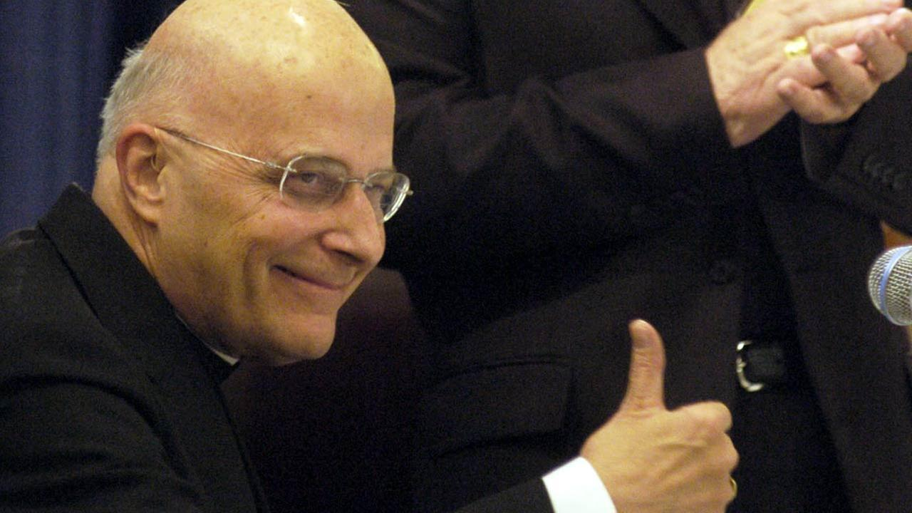 Cardinal George as president-elect of the U.S. Conference of Catholic Bishops on Nov.13, 2007 in Baltimore.AP Photo/ Steve Ruark