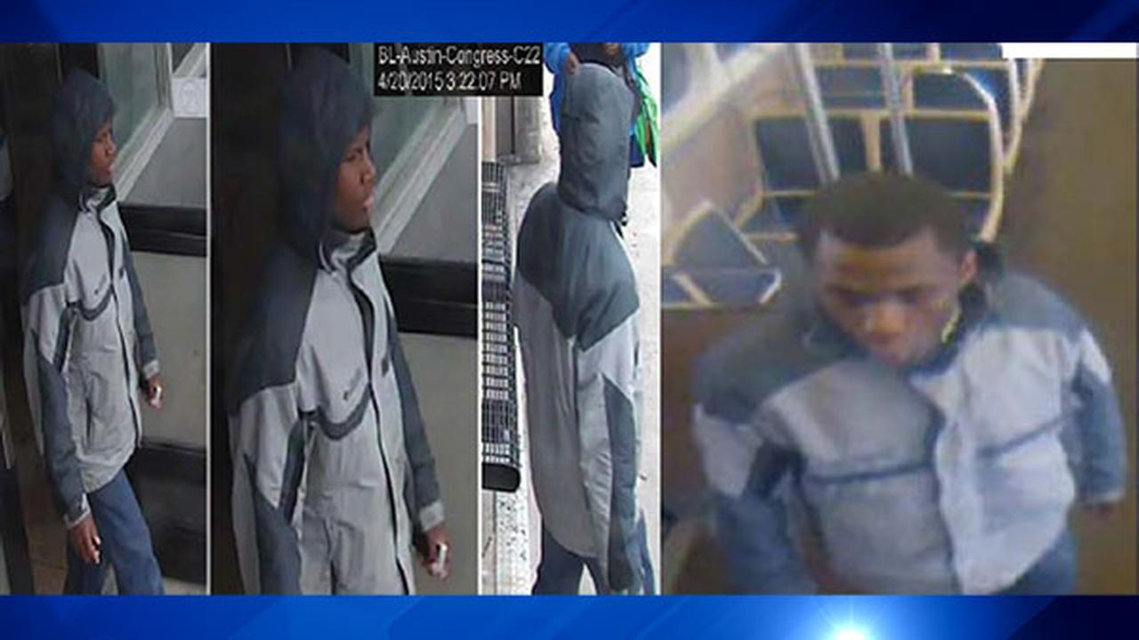 Chicago police say this man, seen in surveillance images, sexually assaulted a woman on the CTA Blue Line on Monday, April 20.
