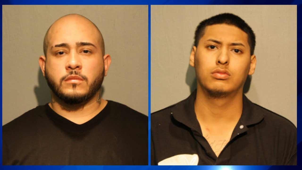 Gustavo VillaGomez, 27, of Chicago (left), and Kevin Martinez, 20, of Cicero