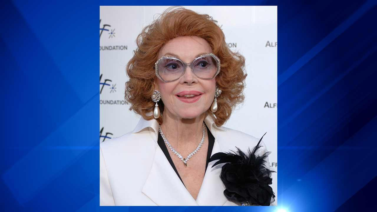 Actress Jayne Meadows, who often teamed with her husband Steve Allen, has died at age 95. Meadows son, Bill Allen, said she died Sunday, April 26, 2015.AP Photo/Phil McCarten, File