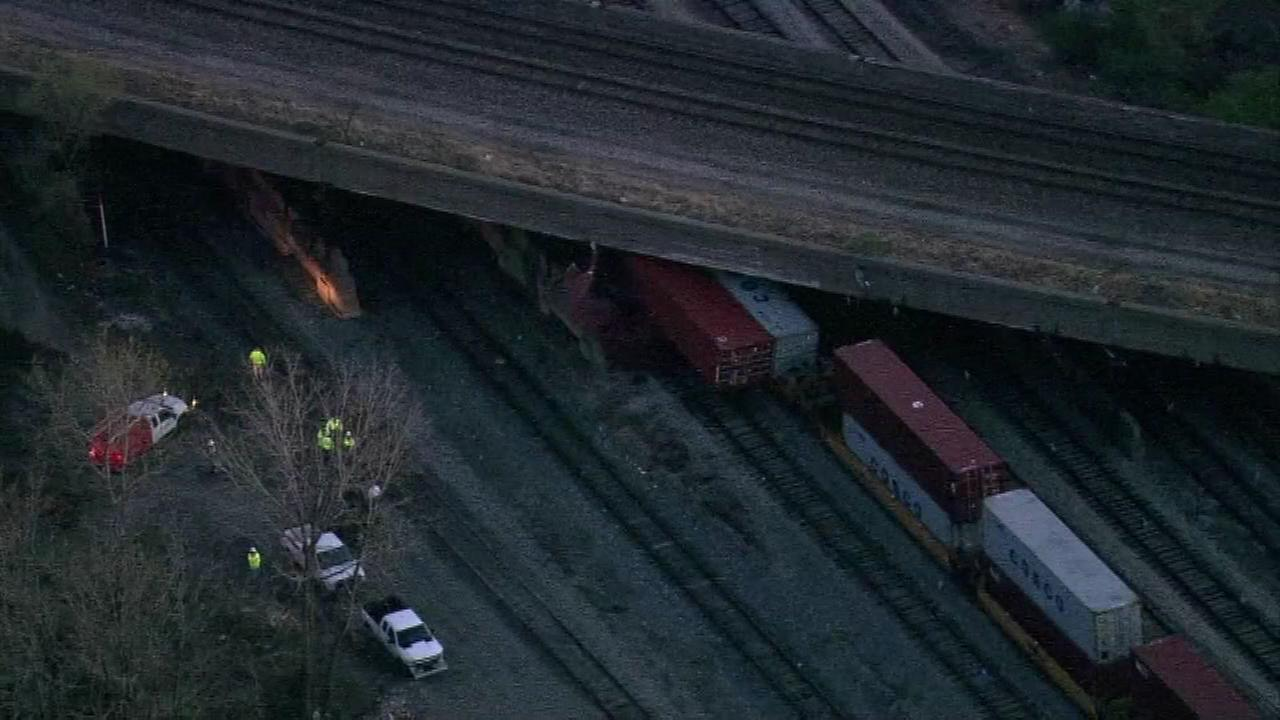 A freight train derailed on the citys Far South Side, affecting commuter train service between Chicago and northwest Indiana Monday night.