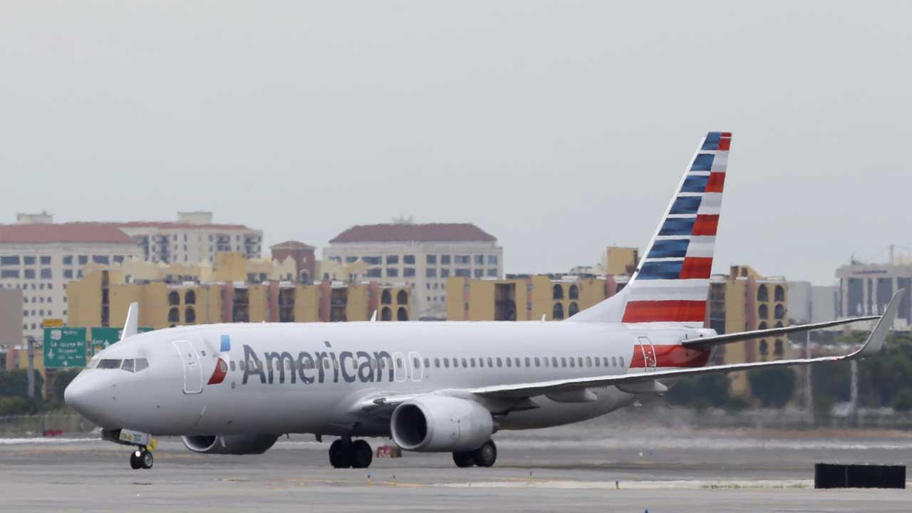 (FILE) An American Airlines Boeing 737 taxis before taking off at Miami International Airport in Miami.
