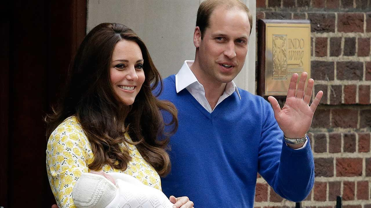 Prince William and Kate, Duchess of Cambridge and their newborn baby princess leave St. Marys Hospitals exclusive Lindo Wing, London, on May 2, 2015.