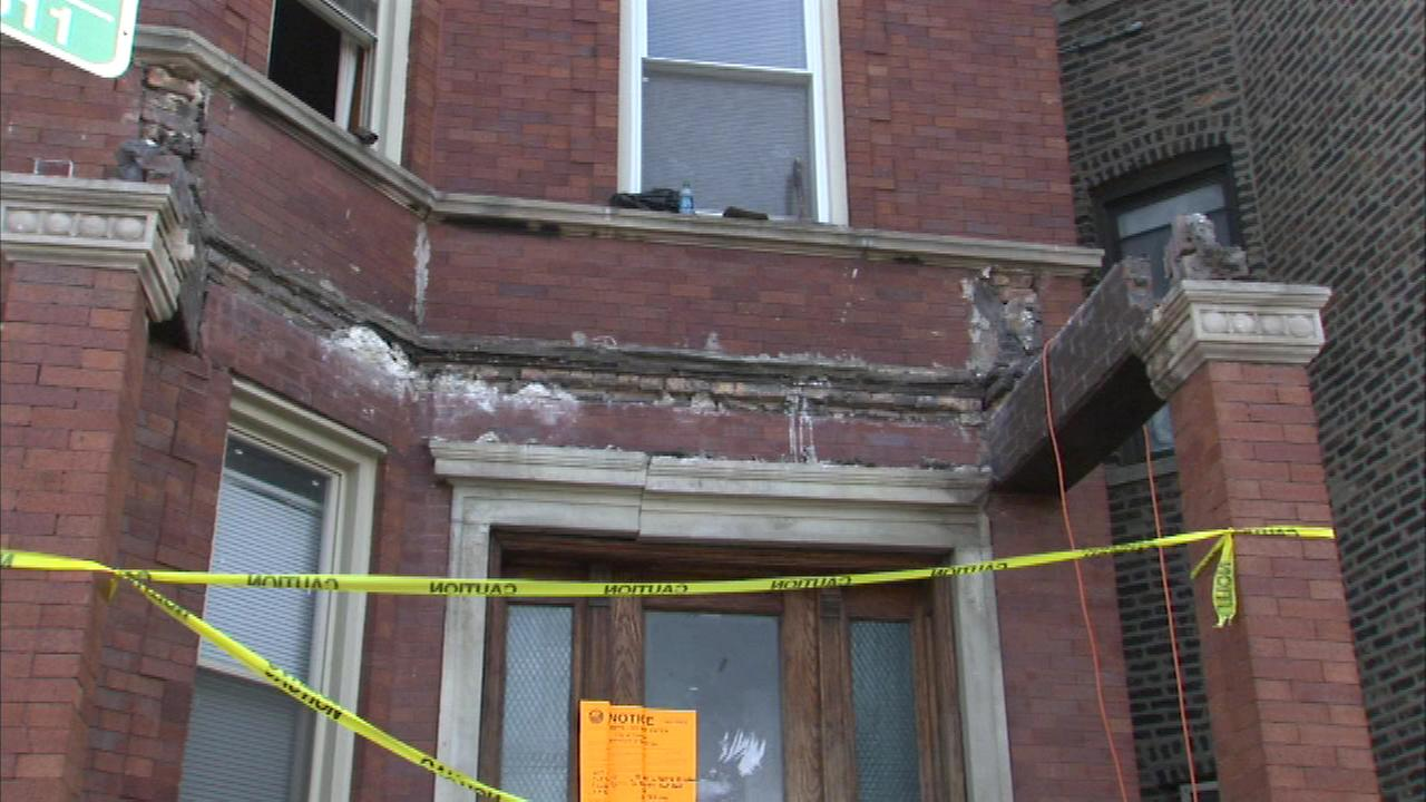A construction worker was injured when a porch collapsed on the citys Southwest Side Saturday.