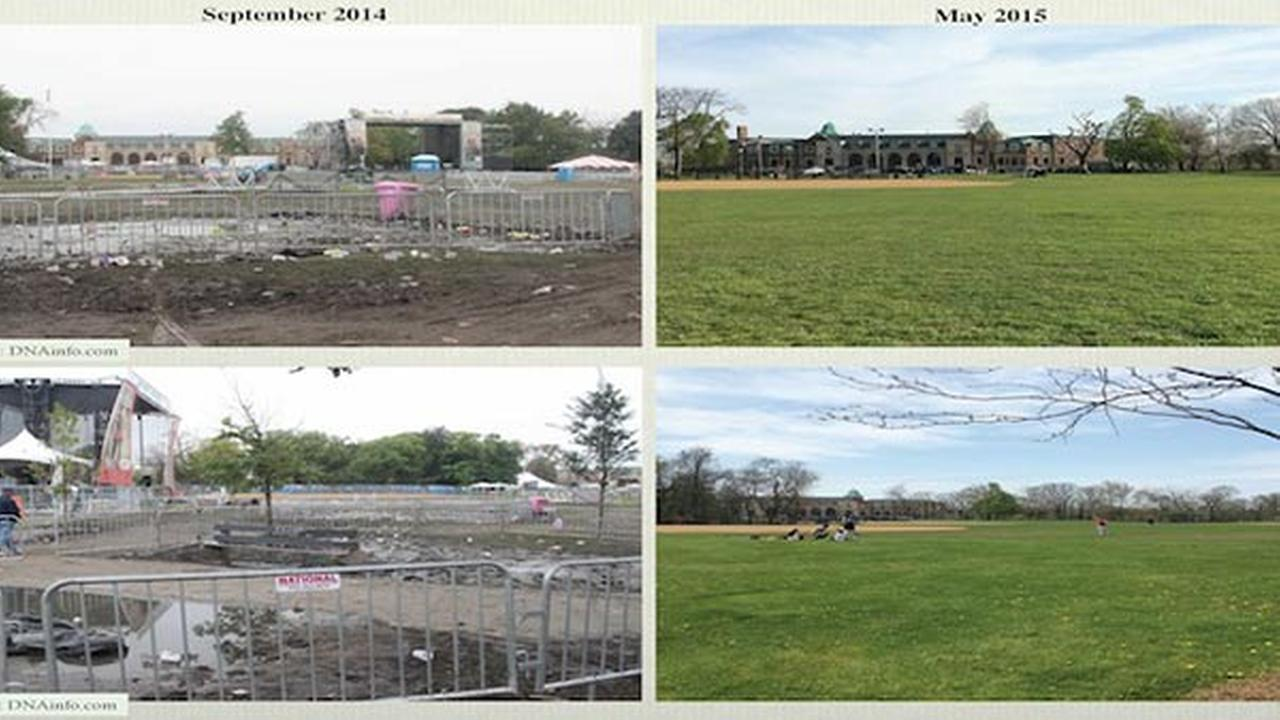 Riot Fest organizers released photos showing the repairs theyve completed on Humboldt Park since 2014s concert.