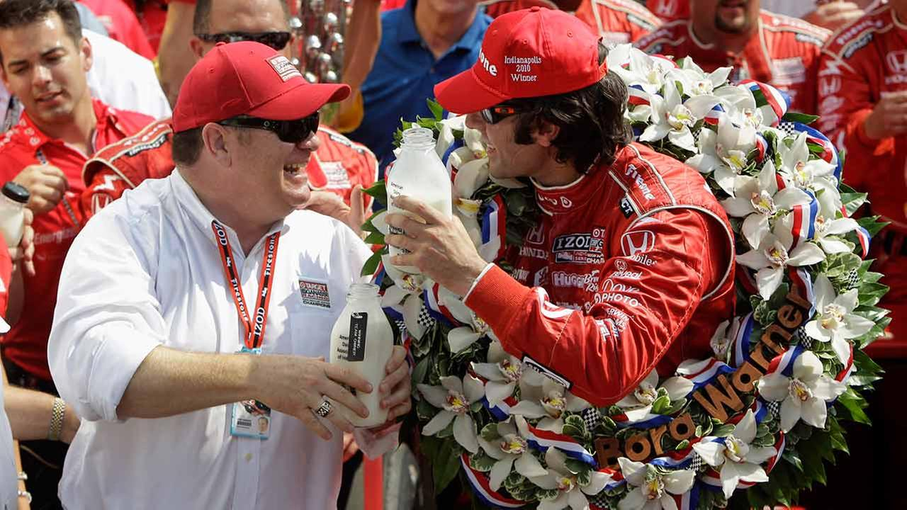 Car owner Chip Ganassi, left, celebrates with Dario Franchitti, of Scotland, after they won the Indianapolis 500 auto race at Indianapolis Motor Speedway on May 30, 2010.AP Photo/Darron Cummings, File