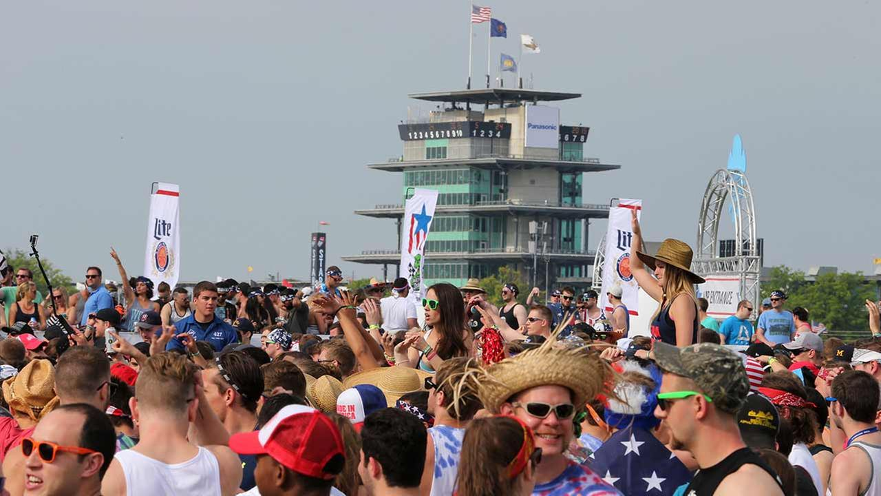 Fans gather for a concert in the infield before the 99th running of the Indianapolis 500 auto race at Indianapolis Motor Speedway in Indianapolis on May 24, 2015.AP Photo/AJ Mast