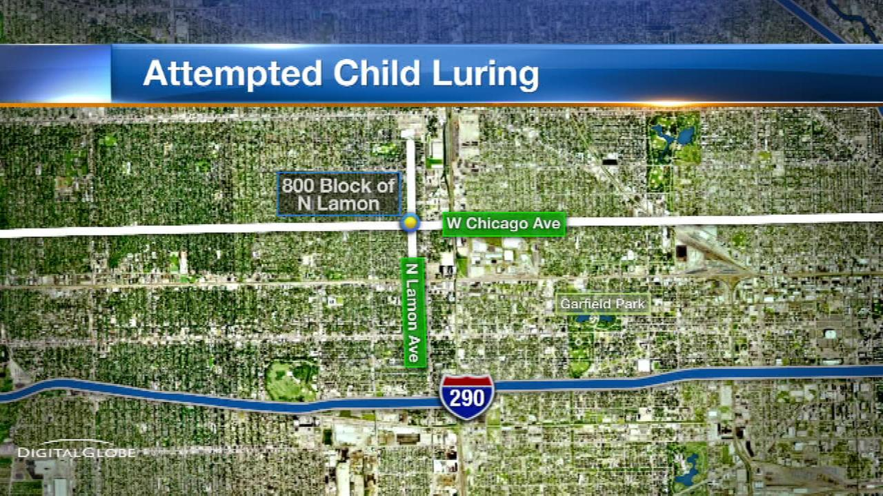 Police: Man tried to lure child into car
