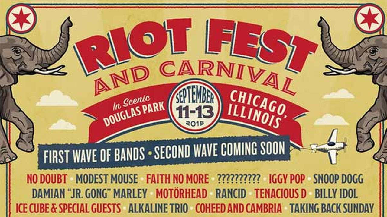 Riot Fest announced its first wave lineup for its 2015 Chicago festival.
