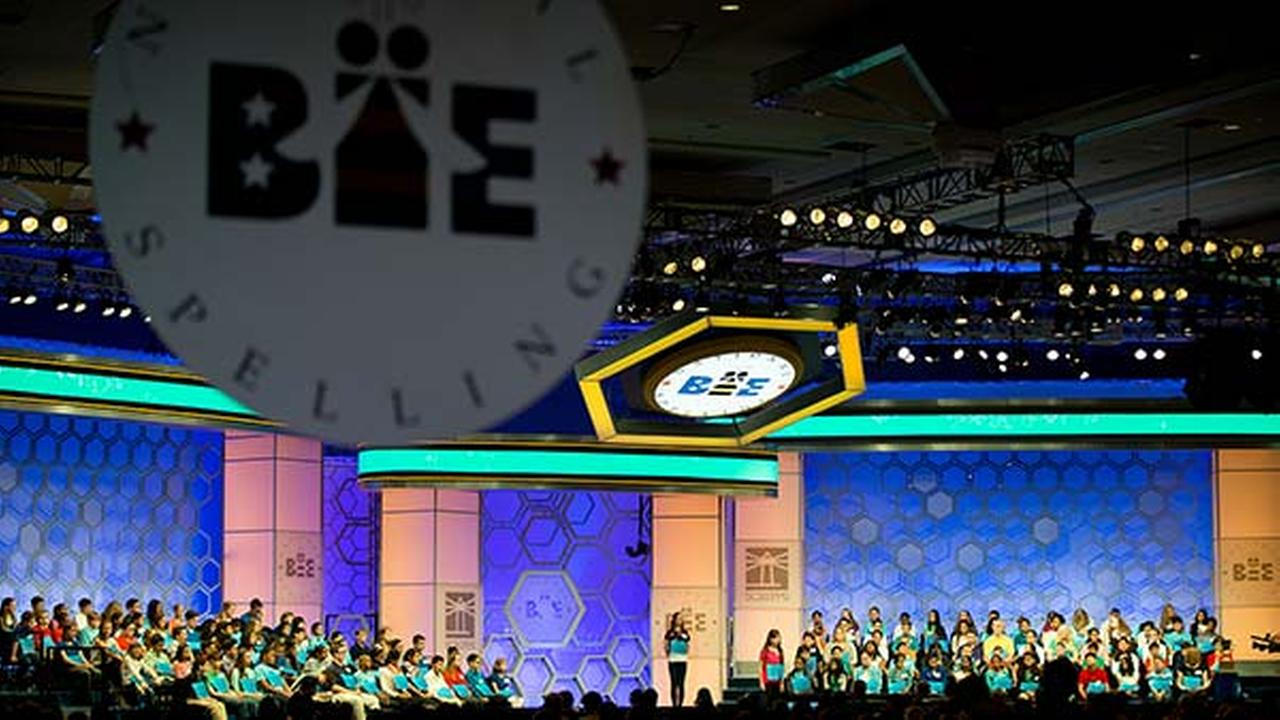 Spellers take the stage for the 2015 Scripps National Spelling Bee, Wednesday, May 27, 2015, in Oxon Hill, Md.