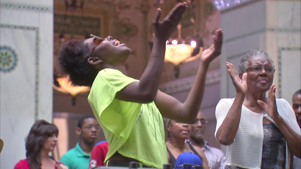 Gospel music fills Millenium Park this weekend.