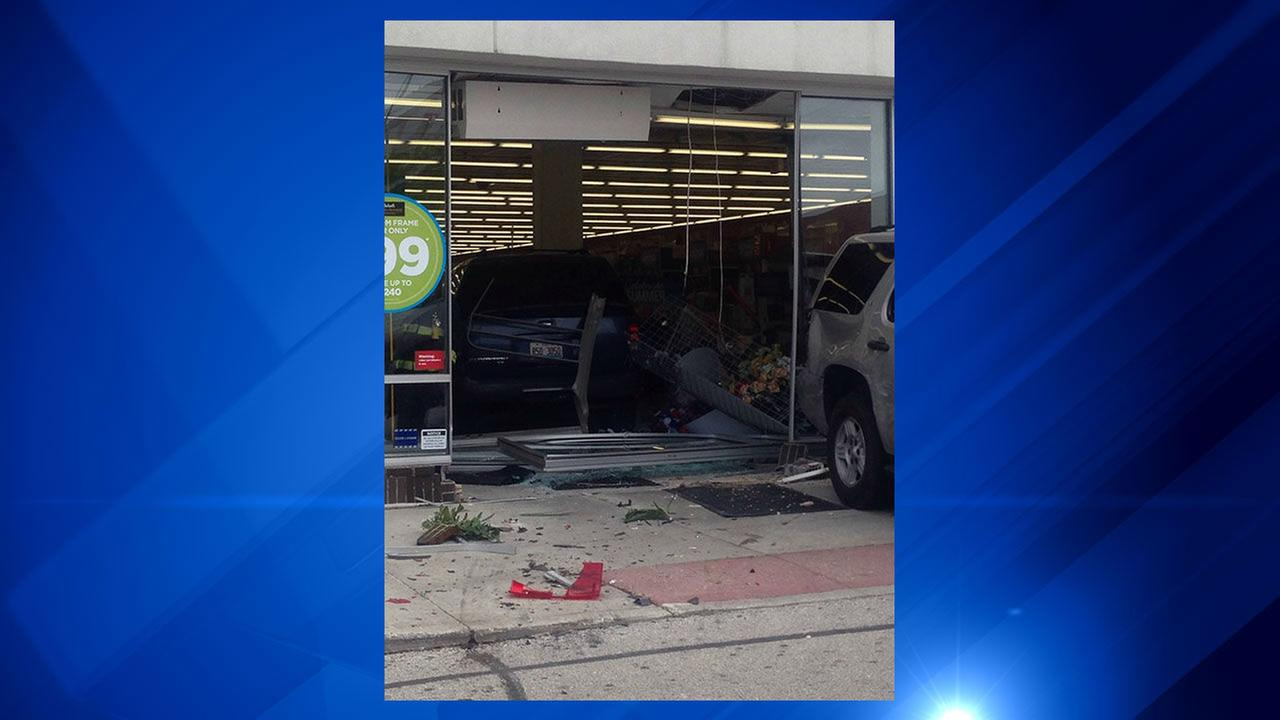 SUV crashes into Michaels store in North Riverside
