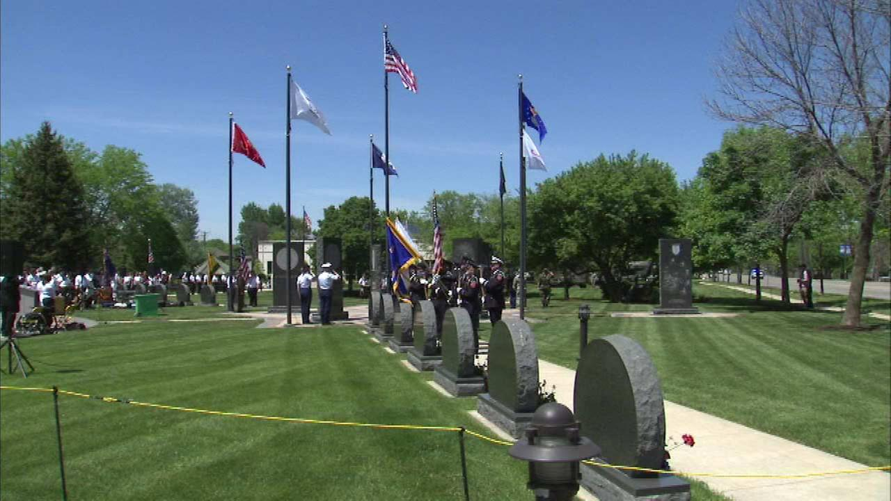 A northwest suburban city honors service members with a Memorial Day ceremony.