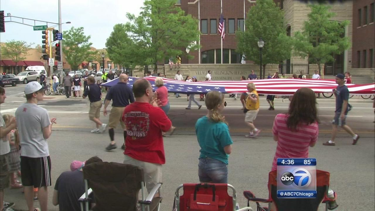 Memorial Day parade in Alrington Heights