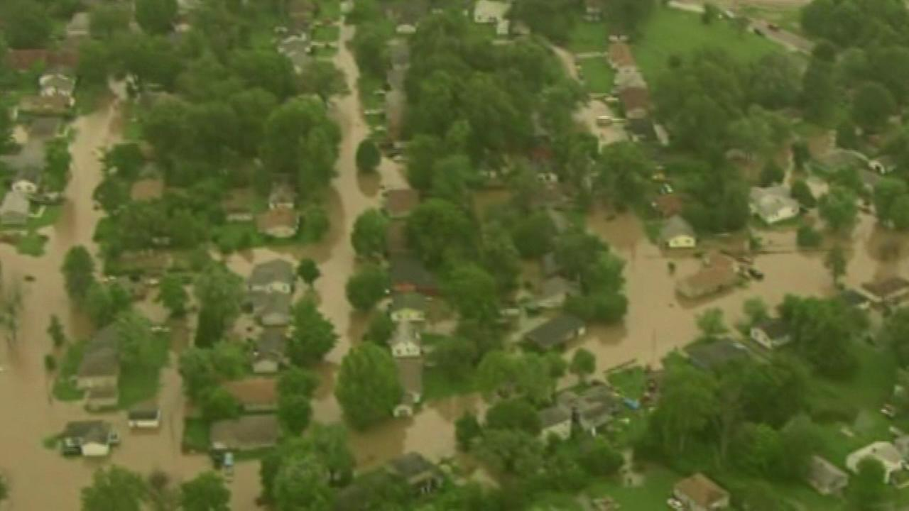 Rescue crews evacuated about 40 people because of flooding in the southwestern Illinois city of Centreville.