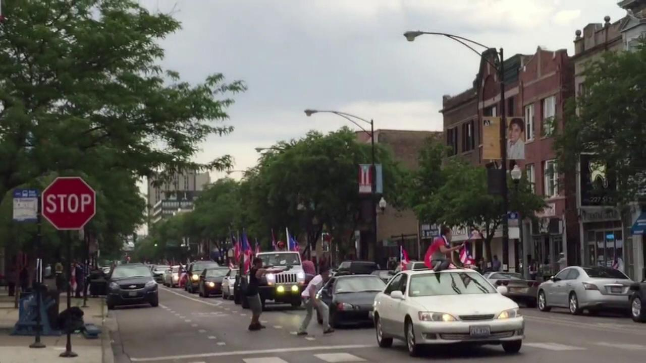 A shooting was caught on camera on the citys Northwest Side Saturday evening after the Puerto Rican Peoples Day Parade.