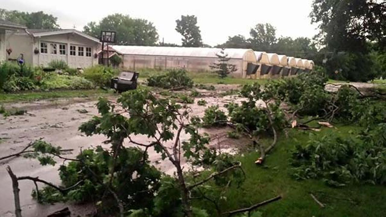 Storm damage in Sterling, Ill.