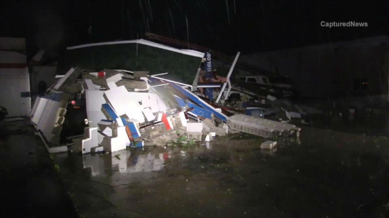Storm damage in Coal Cityvia Captured News