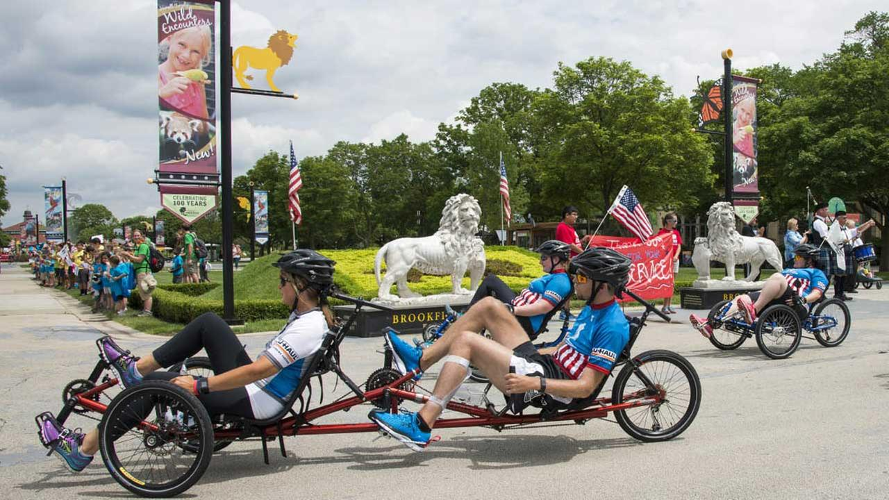 Wounded Warriors Project welcomed at Brookfield Zoo on June 25, 2015.