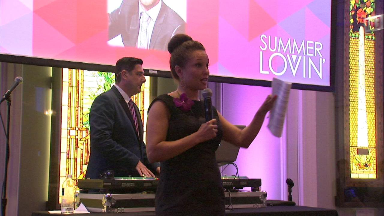 ABC7s Leah Hope emceed as Chicago Magazines most eligible singles of the year were showcased in Lincoln Park Friday night.