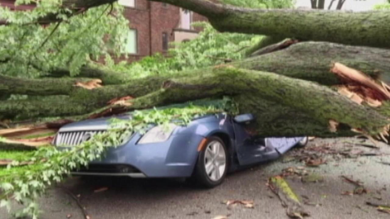 Thousands are without power after a violent storm swept through Fort Wayne, Indiana, Saturday morning.