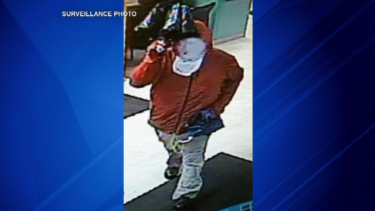 Authorities in the southwest suburbs are looking for a man who they say robbed a bank Midlothian Friday afternoon.