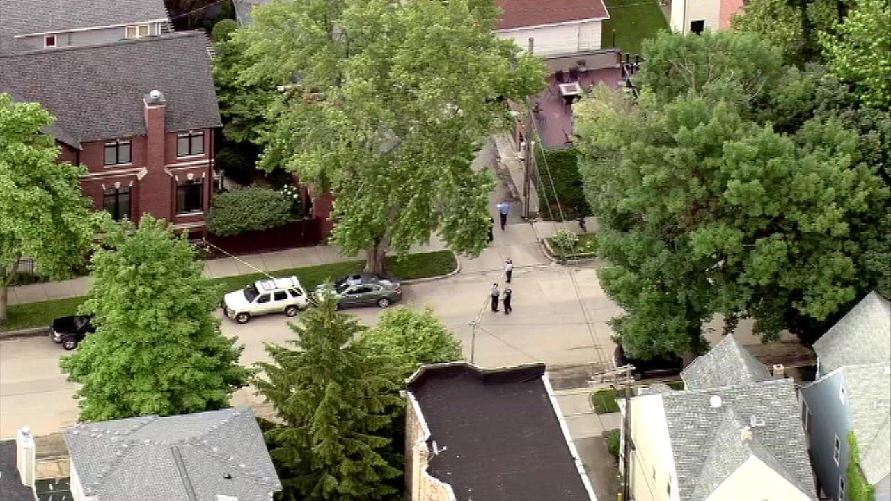 At least one person was stabbed Monday afternoon in the 2100-block of W. Sunnyside  in Chicagos Ravenswood neighborhood.