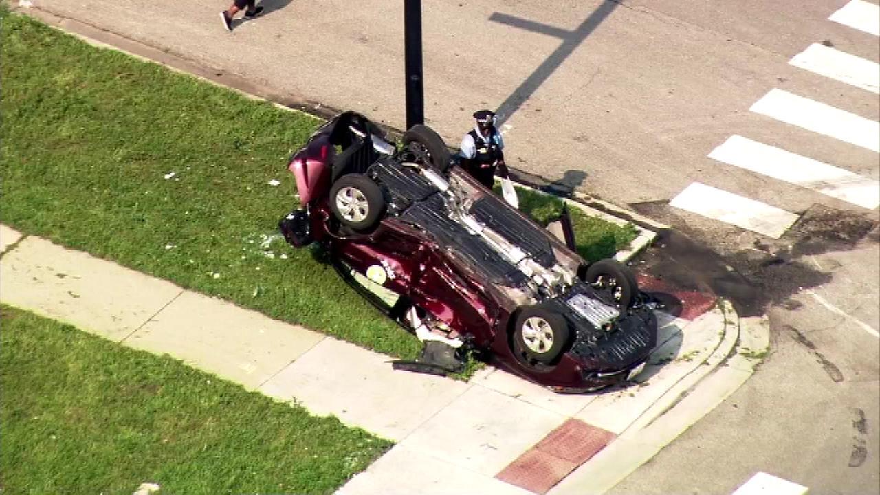 Chicago Fire Department: Three Injured In Bronzeville Car