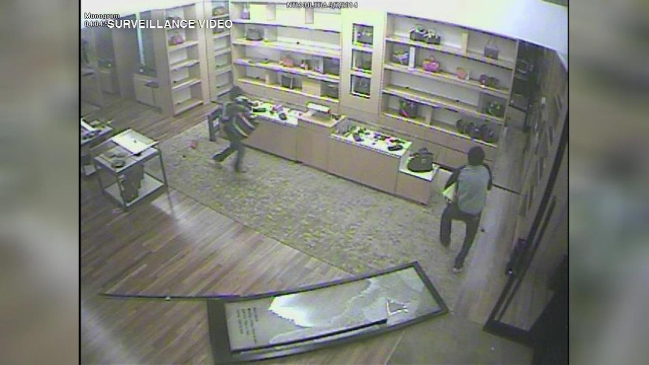 Eight people arrested for a burglary at a high-end store in Minnesota may be linked to a similar crime in suburban Chicago.