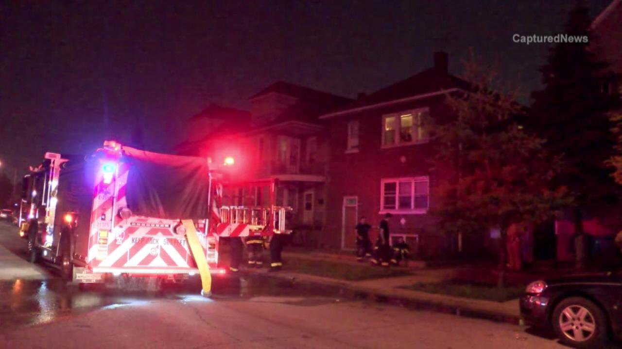 One person was killed in a house fire in East Chicago, Ind., Saturday night, officials said.