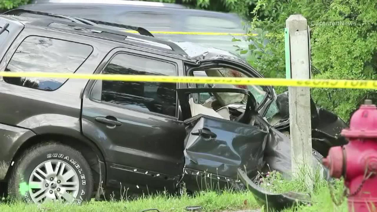 Reports of shots fired early Sunday morning in far north suburban Zion ended with a vehicle crash and one man dead.