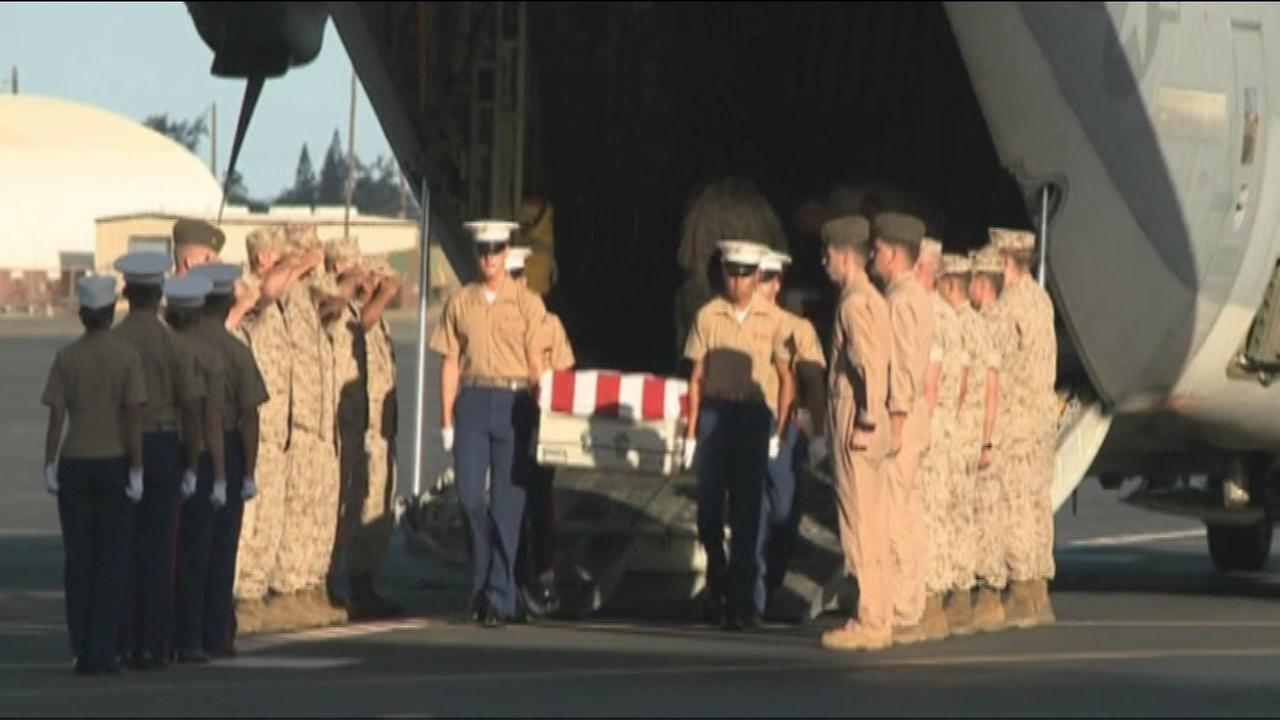 The military and a private organization have brought home the remains of 36 Marines killed in one of World War IIs bloodiest battles.