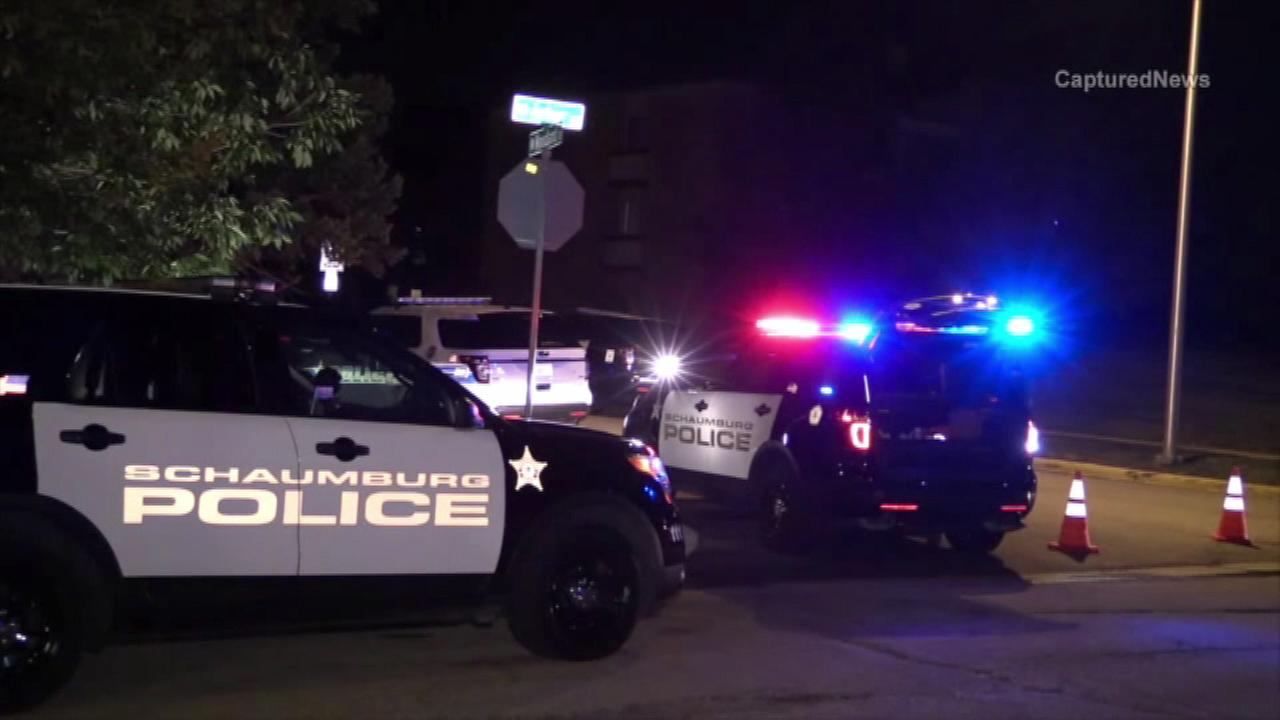 A 31-year-old Schaumburg resident was injured Saturday night when she fired a semi-automatic pistol at police officers from a window of her condo.