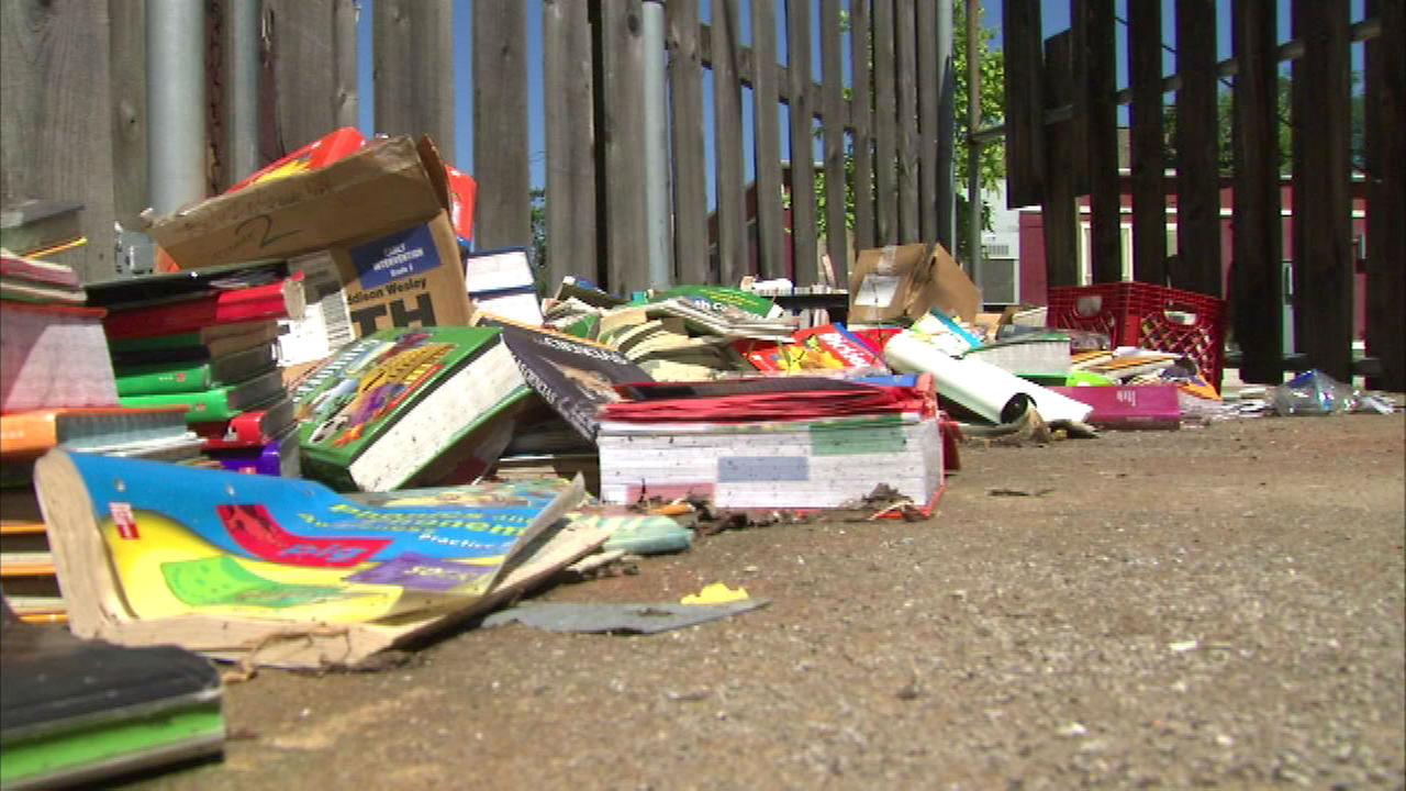 Books dumped outside CPS elementary school
