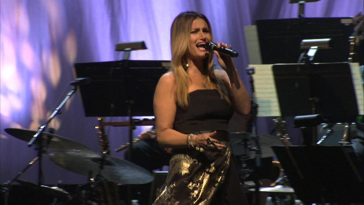 Singer-actress Idina Menzel made a stop in Chicago as part her world tour when she took the stage at Pritzker Pavillion in Millennium Park Sunday night.
