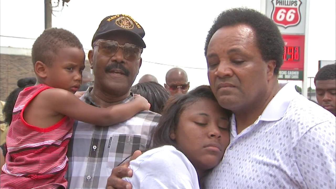 A vigil was held Sunday for the family Andrew Holmes after the anti-violence activist lost his daughter this weekend in a shooting in Indianapolis.
