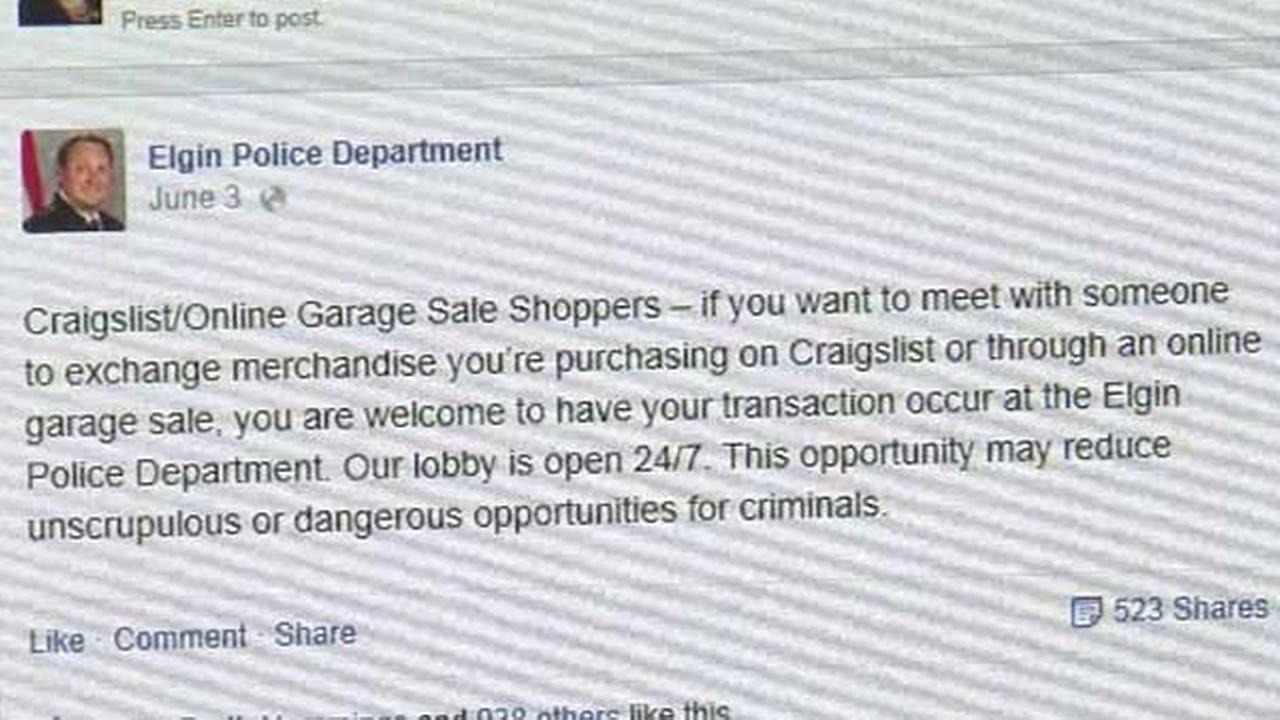 Elgin Police Offer Safe Space For Craigslist Deals