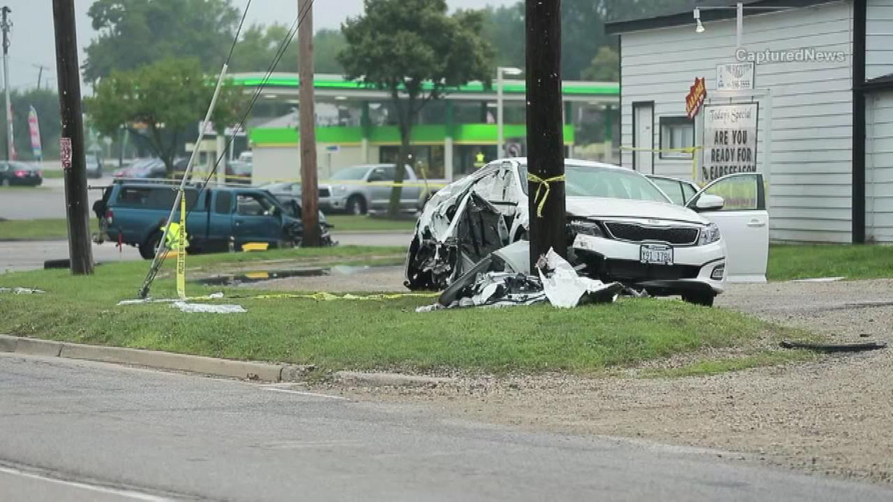 A father and daughter were killed Saturday in a crash in far north suburban Lake County.