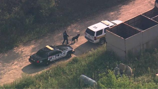 Authorities search for two men considered to be armed and dangerous in far north suburban Fox Lake on Tuesday, Sept. 1, 2015. <span class=meta>Chopper7 HD</span>
