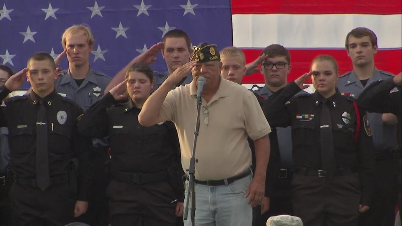 A vigil was held for Lt. Charles Joseph Gliniewicz in Fox Lake Wednesday evening.