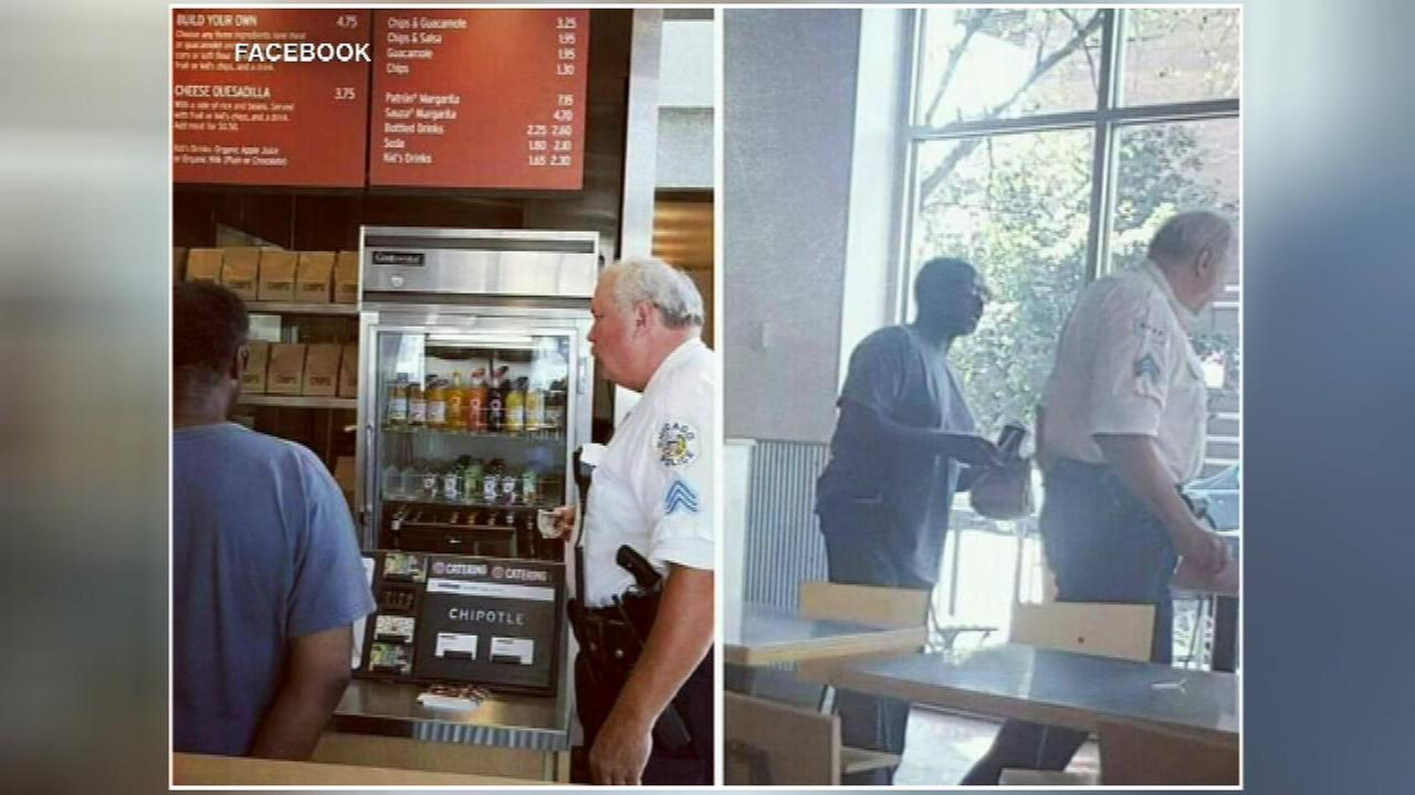 An act of kindness is getting a Chicago police officer a lot of attention on social media.
