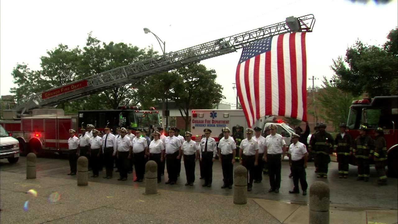 The Chicago Fire Department had a moment of silence as part of their Sept. 11 remembrance on Friday.